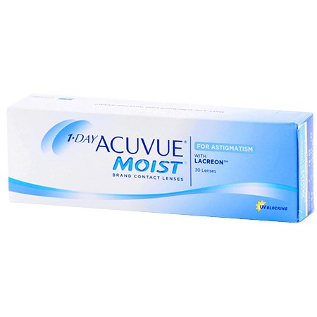 Acuvue 1-DAY ACUVUE MOIST for ASTIGMATISM 30 Pack contact lenses