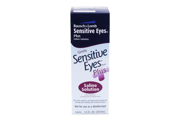 Bausch and Lomb Sensitive Eyes Plus Saline Contact Lens Solution (12 fl. oz.) SolutionsCleaners