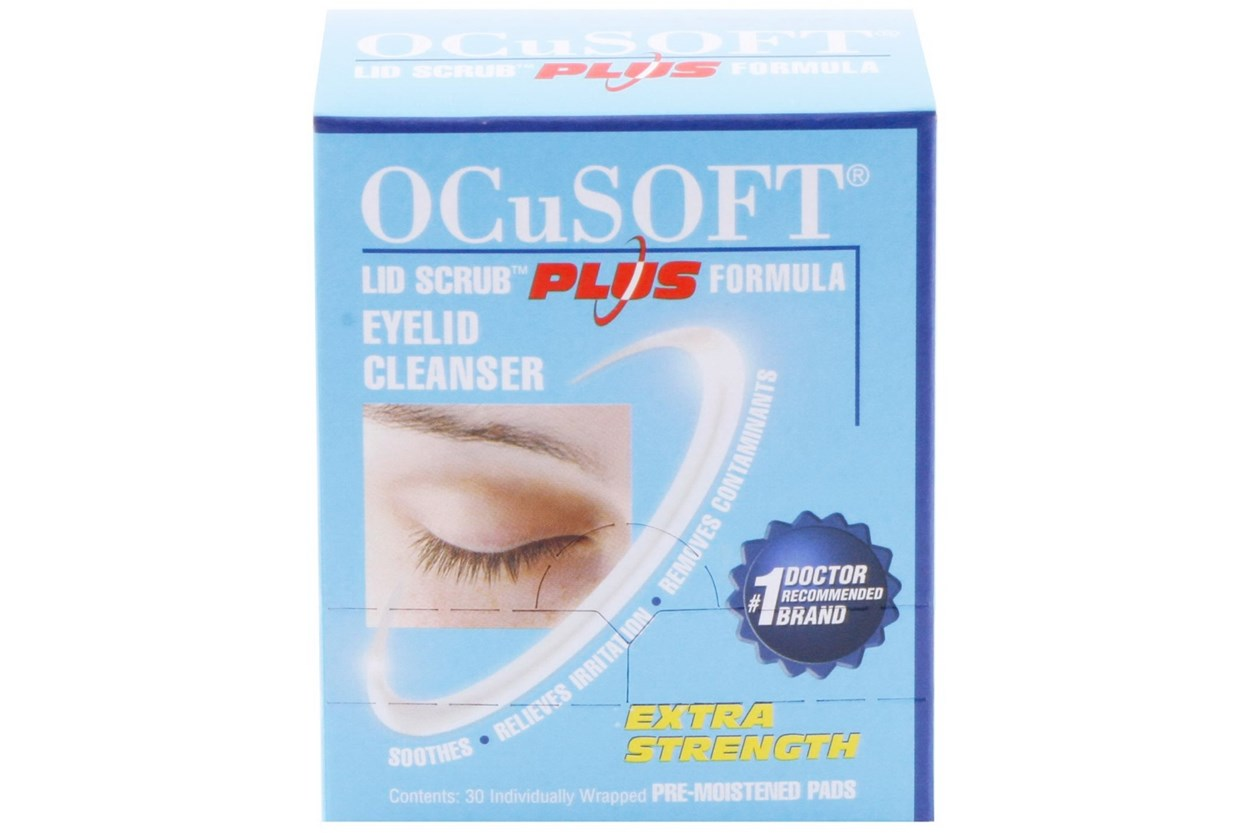 Ocusoft Lid Scrub Plus Formula Eyelid Cleanser (30 Pads) SkincareTreatments
