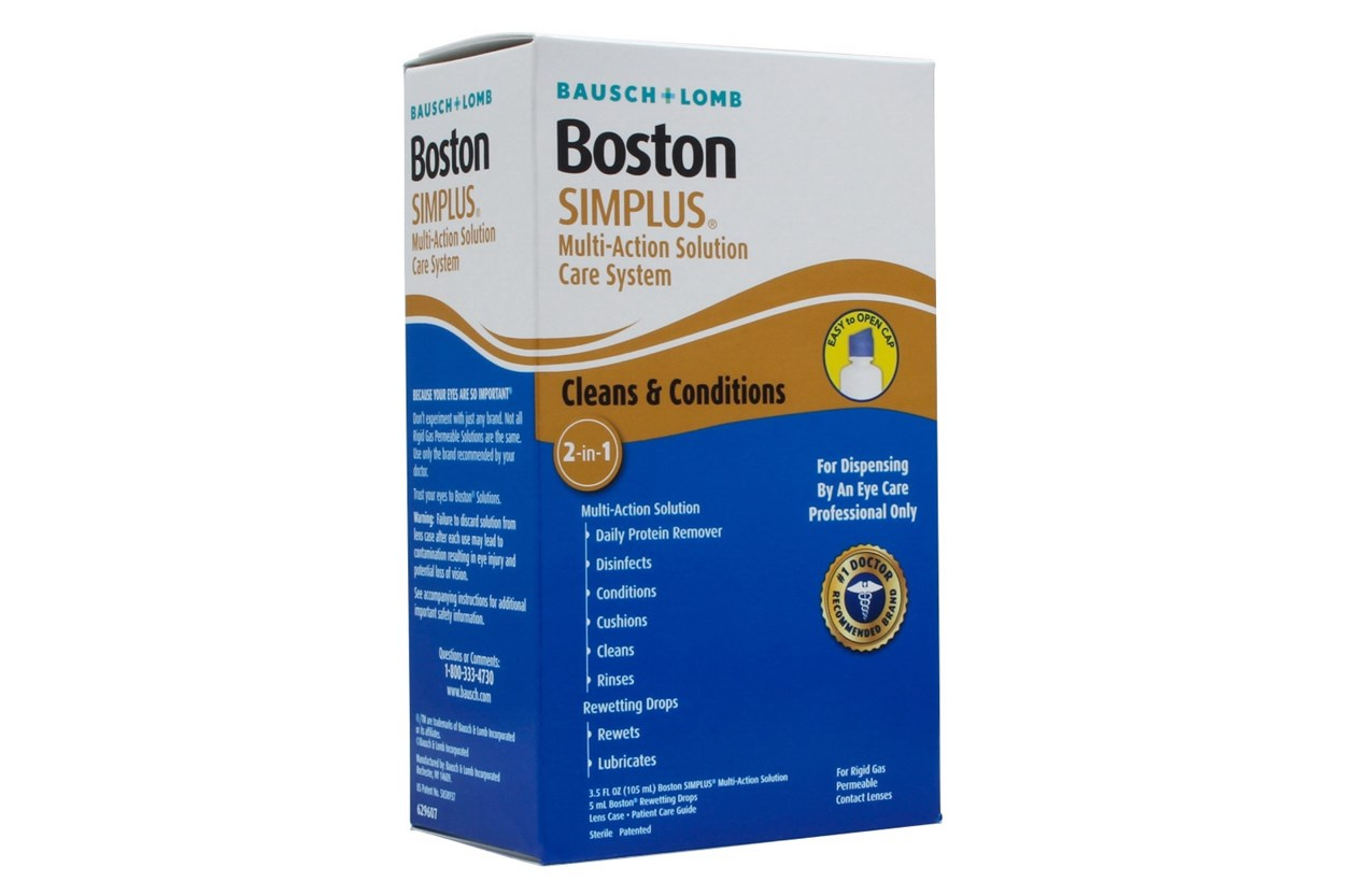 Boston Simplus Care System Multi-Action Contact Lens Solution SolutionsCleaners
