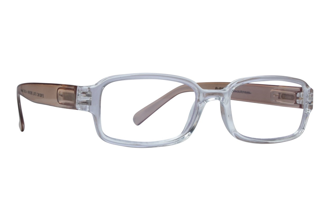 Evolutioneyes E-Specs Computer Glasses EY8319C ReadingGlasses - Brown