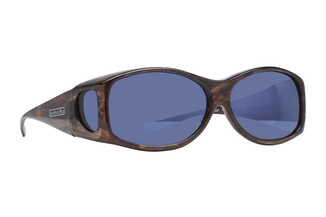 Fitovers Eyewear Glides - Sunglasses for Extra Small and Oval Eyeglass Frames Sunglasses - Brown