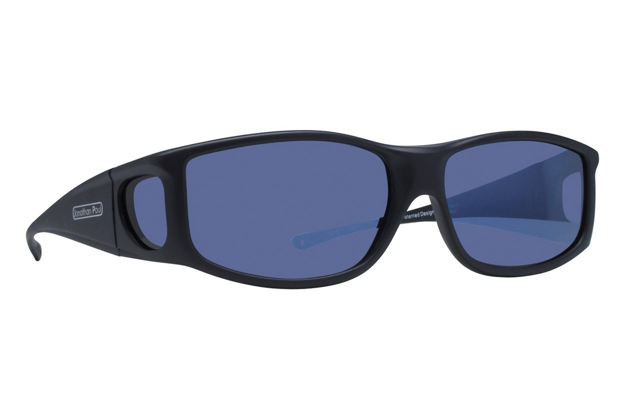 Fitovers Eyewear Jett by Jonathan Paul Eyewear - Fits Over Prescription Eyeglasses Sunglasses - Black