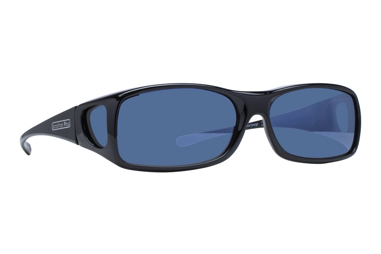 Fitovers Eyewear Aria - Over Glasses for Rectangle Frames Sunglasses - Black