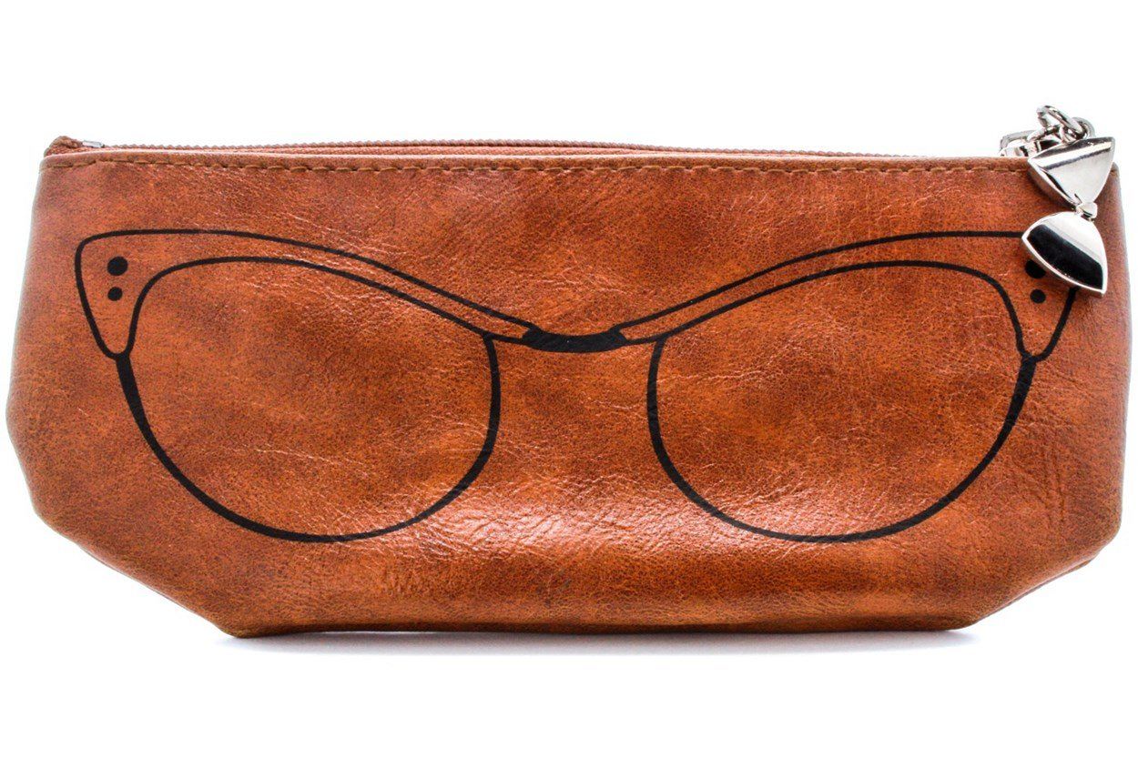 Corinne McCormack Cognac Cat Eye Soft Case GlassesCases - Brown