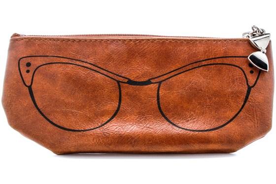 Corinne McCormack Cognac Cat Eye Soft Case GlassesCases - Brown
