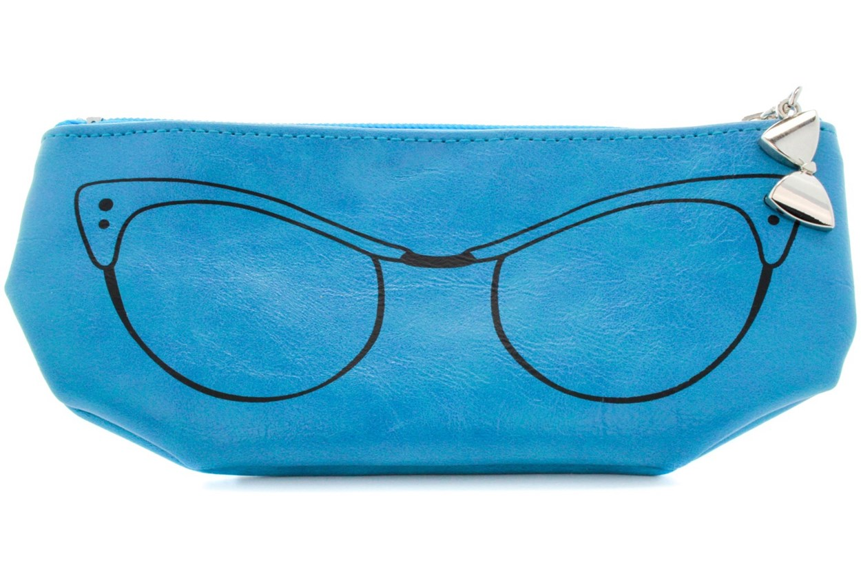 Corinne McCormack Teal Cat Eye Soft Case GlassesCases - Turquoise