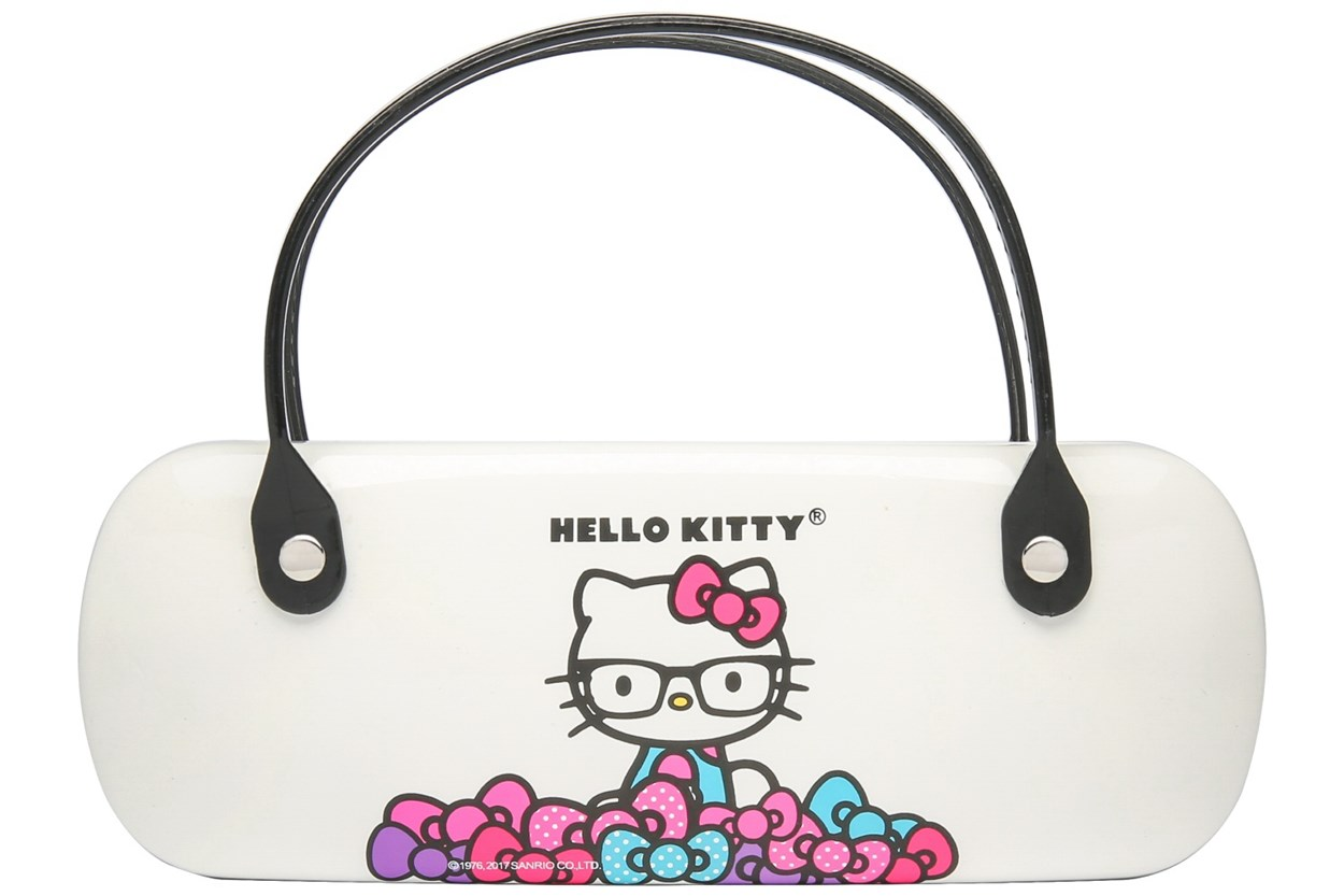 Hello Kitty Clamshell Eyeglass Case GlassesCases - White