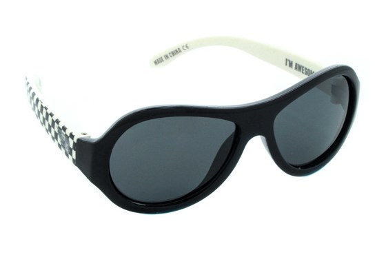Babiators Polarized Sunglasses for Babies - Pattern Sunglasses - Black