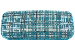 Click to swap image to CalOptix Silver Plaid Eyeglass Case