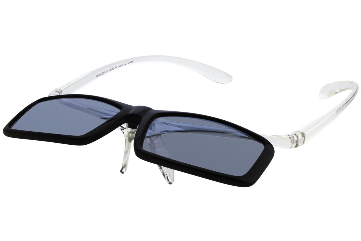 Alternate Image 2 - I Heart Eyewear Flip-Up Reading Sunglasses ReadingGlasses - Black