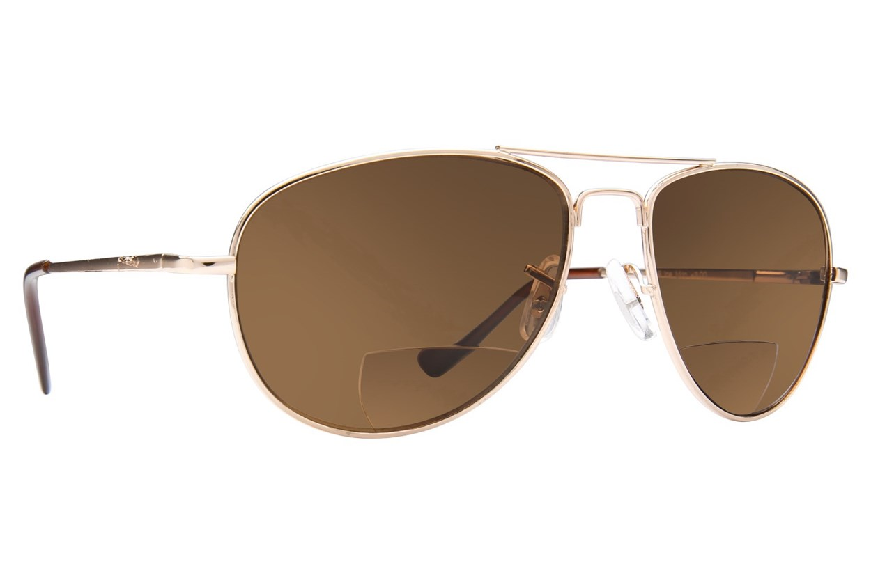Peepers Ice Man Reading Sunglasses  - Gold