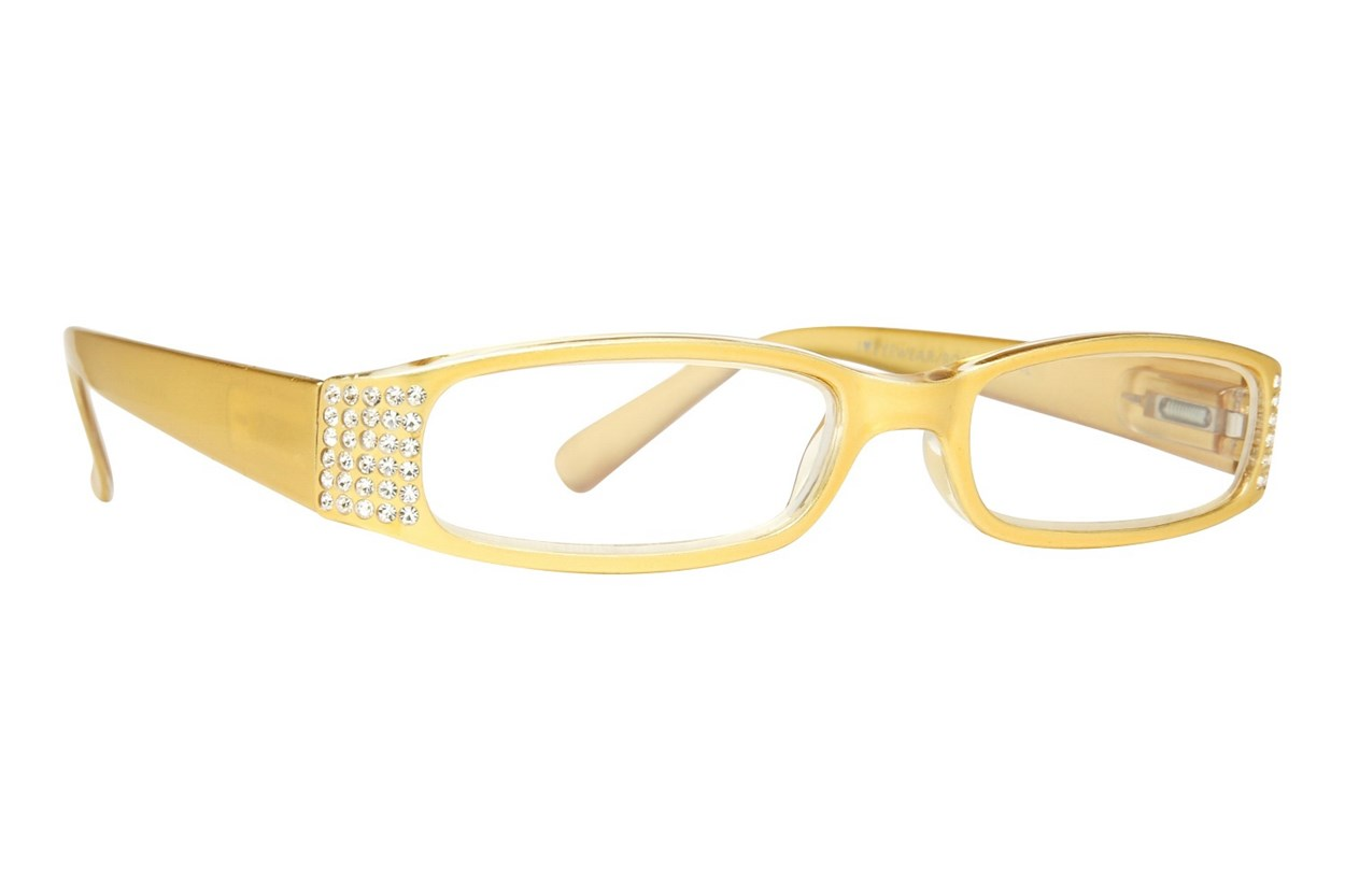 Eye Candy Sophisticated Specs Gold Reading Glasses  - Gold